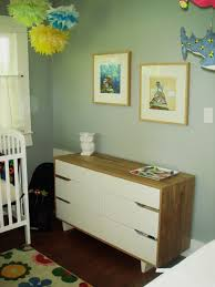 baby nursery nursery chest drawer and changing table oak