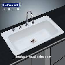 Single Bowl Cast Iron Enamel Kitchen Sinks Prices Modern Kitchen - Enamel kitchen sink