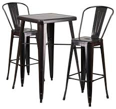 Indoor Bistro Table And Chairs Metal Bar Table Set Contemporary Outdoor Pub And Bistro Sets