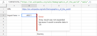 Dummy Table Import Tables From The Web To Google Sheets Sheetgo