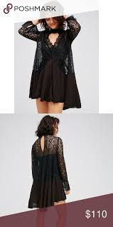 nwt free people secret origins pieced lace tunic nwt size small