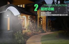 gs certificated intelligent industrial lamp sensor garden wall