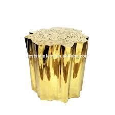 Tree Stump Side Table Gold Tree Stump Table U2013 Anikkhan Me