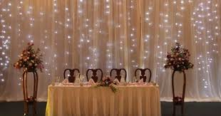 lighted wedding backdrops also an idea for something borrowed
