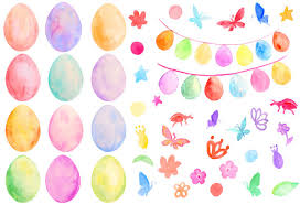 pastel easter eggs easter clip watercolor pastel color easter eggs and