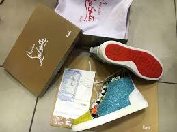 christian louboutin spikes shoes cl rivet limited edition red sole