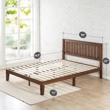 bed frames full size platform bed with storage rustic metal bed