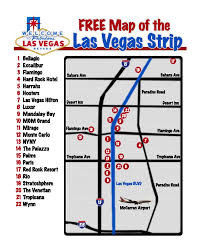 Las Vegas Hotel Strip Map by Large Map Of The Las Vegas Strip Las Vegas Nevada State Usa