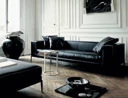 salon avec canapé noir le canapé quel type de canapé choisir pour le salon