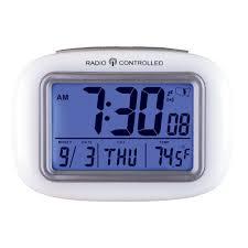 amazon com cordless atomic digital alarm clock white home u0026 kitchen