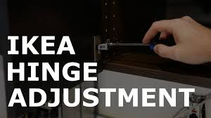 ikea utrusta hinge adjustment youtube