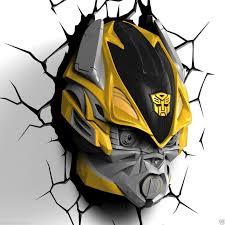 transformers 3d wall lights optimus prime bumblebee grimlock