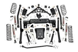 lifted jeep grand cherokee 4in long arm suspension lift kit for 99 04 jeep wj grand cherokee