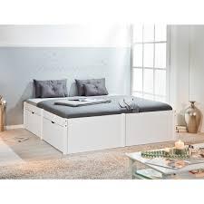 letto cassetti letto ad una piazza e mezza con cassetti moderno in legno bianco