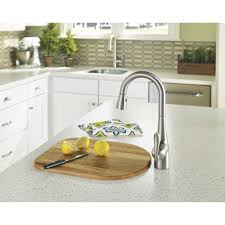 White Moen Kitchen Faucet Bathroom Charming Silver Moen 7594c Combined With Kitchen Or Bath