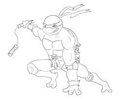 ninja turtles coloring pages leonardo mutant turtle nickelodeon