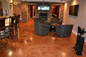 flooring stained concrete floors acid countertops model home