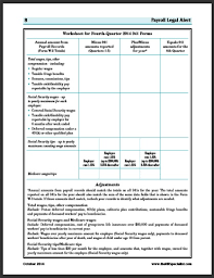 quarterly report template small business worksheet for fourth quarter 2014 941 forms business management