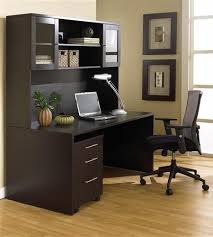Modern Espresso Desk 63 Modern Espresso Desk With Hutch Mobile Pedestal Officedesk