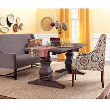 world market arcadia table arcadia trestle dining table with hayden dining bench and