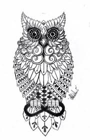 black and white owl piercings tattoos