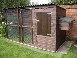 james chicken coop hen house fully boarded with mesh apron
