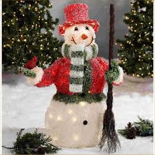 Outdoor Lighted Snowman Decorations by Outdoor Snowman U2013 Outdoor Christmas Snowman Christmas Lighted