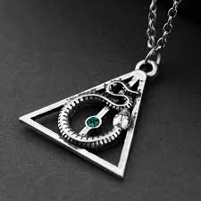 snake jewelry necklace images Deathly hallows alloy pendent charm necklace hogwarts necklaces jpg
