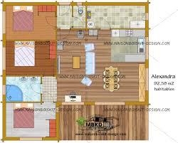 plan de maison 100m2 3 chambres prix au m2 d une maison en bois en kit contemporaine de plain pied