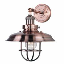 Nickel Sconce Maxim Mini Hi Bay 1 Light Wall Sconce 11 U0027 U0027 Metal Shade W Wire Guard