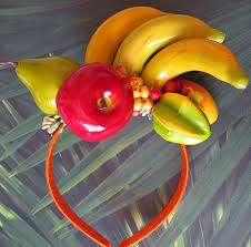 fruit headband tropical fruits headband miranda style bananas