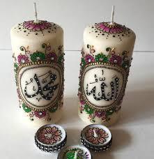 bougie personnalis e mariage bougie henné vente kit bougie decoration henné pas cher