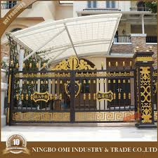 luxury high quality aluminum alloy garden gate with motor