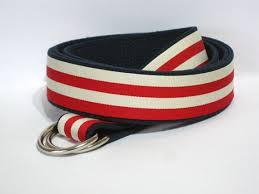 preppy ribbon belts striped belt khaki canvas belt striped d ring belt