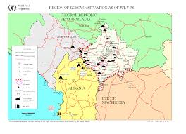 Map Of Serbia Cascon Case Kos Kosovo 1989