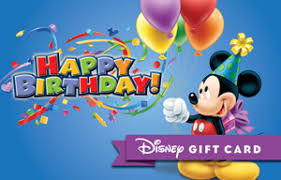 happy birthday from mickey gift card disney gift card