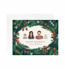 christmas personalized winter foliage personalized greetings by rifle paper co made in usa