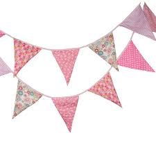 pink garland new bigger size 12 flags pink fabric banners personality wedding