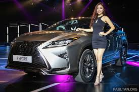 new lexus rx launched in m u0027sia u2013 200t 350 450h fr rm389k