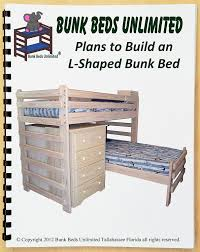 Wood Plans Bunk Bed by Bunk Bed Diy Woodworking Plan To Build Your Own L Shaped Twin Over
