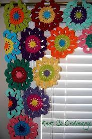 Crochet Valance Curtains Flower Valance Flower Curtains Crochet Curtains Kitchen