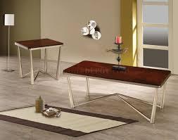 coaster company satin nickel coffee table 701788 3pc coffee table set by coaster w brushed nickel base