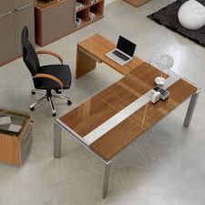 bureau d bureau d angle en bois métal et verre gautier office bureau