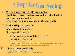 sept ss backwards by design goal setting in order to set goals