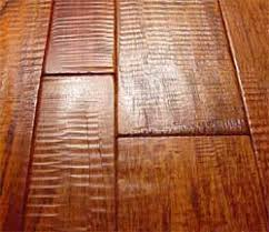 cherry scraped wood floors in random width for