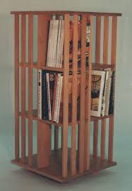mission inspired revolving bookcase handmade furniture mission