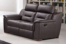 Brown Leather Recliner Sofas Becky Modern Leather Recliner Sofa