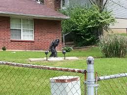 is that a qb statue no it u0027s a suburban backyard bigfoot monument