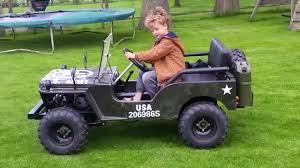 small jeep for kids jeep willy 150cc 3 speed plus return with shocks youtube