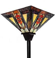 Stained Glass Floor Lamp Southwestern Mission Style Stained Glass Torchiere Floor Lamp